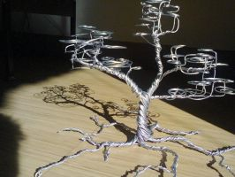 metal bonsai sculpture by saltyangsugar