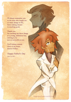 Father's Day: Older Randall and Mr. Ascot by MagicianCelemis