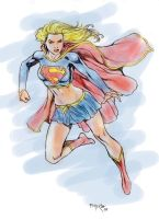 Supergirl Color Sketch by fernandomerlo