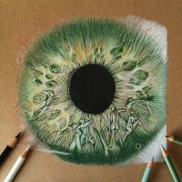 Color drawing pencil eye details .. by ErenLACIN