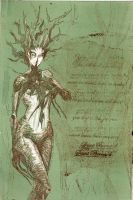 Dryad etching with green glaz by drgnelf