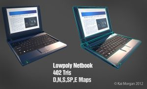 Netbook Lowpoly by kaikun2236