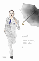 Sherlock : Run, Mycroft! Run! by labrathor