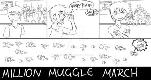 Million Muggle March by Ecumeless