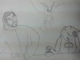 Zachary Aros, Jimmy Squarefoot and Grumpy Moth by Ihsan997