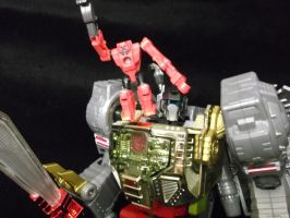 Grimlock and his monkey targetmaster, Beacon by forever-at-peace