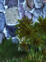 Stone Wall 2 by oldhippieart