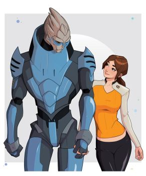 Beauty and the Turian Commission by Mro16