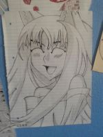 Anime doodle Horo ^-^ by Scarred-Brit-VG