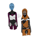Mati and Ari - Mass Effect by Gothalla123
