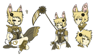 Steampunk Rabbit by MarshmallowCream