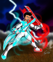 Commission - Tri-Spirit Warrior! by NewEraOutlaw
