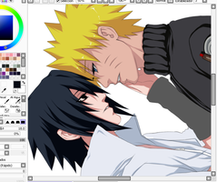 SasuNaru COMM progress by Tabe-chan