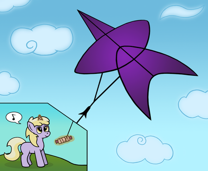 Dinky flying a kite. by GoggleSparks