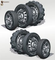 3D truck tires by giographics