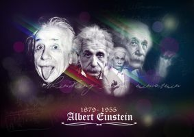 Tribute to Albert Einstein by hiro2satu