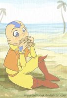 Snack by the beach - Aang by mysketchbook