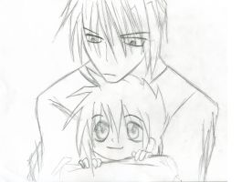 Sanzo and Goku Cuteness 4 by InLoveWithThePhantom