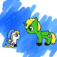 england and sealand are ponies by hooligantwee