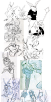 ROTG sketches collage by Peek-aBoo