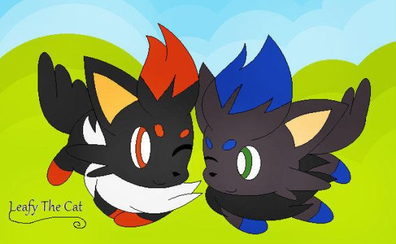 Sonic The Zorua and Shadow The Zorua by LeafyTheCat