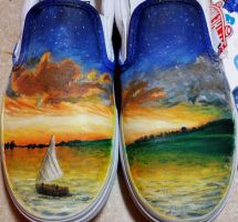 Owl City All Things Bright and Beautiful Shoes TWO by owlsomeart