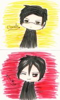 Sebastian and Claude (chibi) by AmityChan