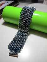 Blue Dragonscale Bracelet by JeiThings