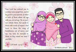 Be kind to our parents by littleMuslimah