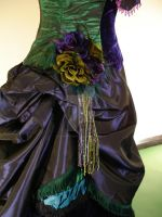 Detail of Peacock Dress by RobynGoodfellow