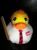 Shaun of the Dead Rubber Duck by Oriana-X-Myst