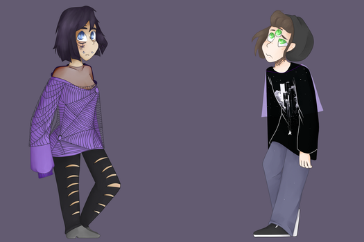Spider Gurl And The Emo Boy by AbrilKawaii