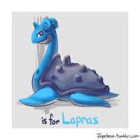 L is for Lapras by Jupeboxgal