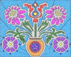 Flowers mosaic by Mallagueta-Pepper