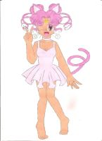 Pink Cat in human form by animequeen20012003