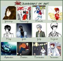My Year in Art by ShimminyCricket