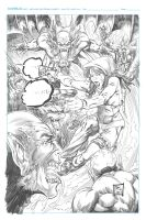 Pencils for First Comics Pinup by kre8uk