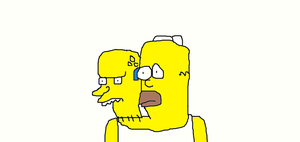 Homer with Mr. Burns head by Simpsonsfanatic33
