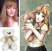 Sweet Teddy /commission/ by tiigroid