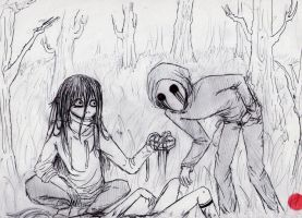 Jeff the killer and eyeless Jack creepypasta by ClaudiaVianney