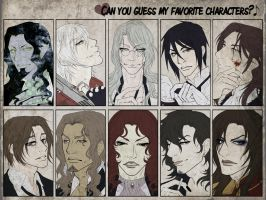 Favorite Charaters Meme by Meiseki
