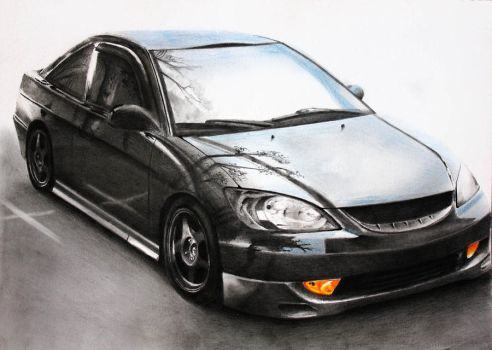 Honda Accord [Graphite+Pastels][A4][commission] by TarcDnB