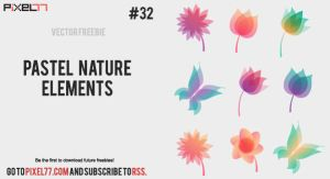 Pastel Nature Elements by pixel77-freebies