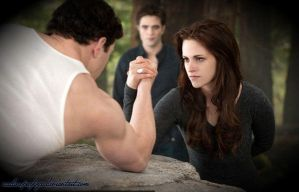 Bella and Emmet: Arm Wrestling by nadinepazkye
