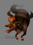 Pumpkin Spice Dragon by WillowEscapee