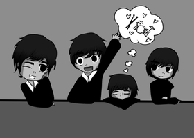 Chibi Beatles by Hedwigroxmysox101