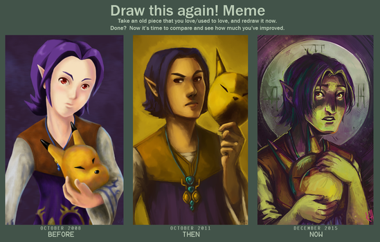 Draw This Again and AGAIN Meme by mondays-noon