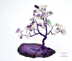 Purple Tree of Life - multicolour by IanirasArtifacts
