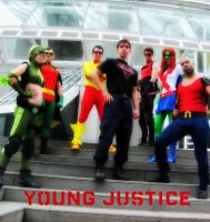 Young Justice Poster by EvrydaySuperman