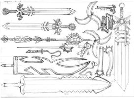 Weapons part 1 by Xiao-Saio